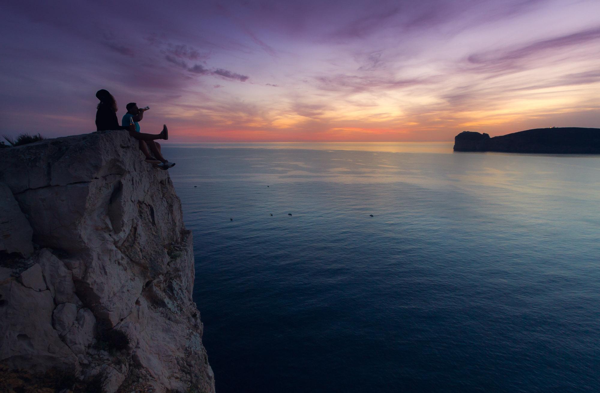 Sardinia sunset Capo Caccia
